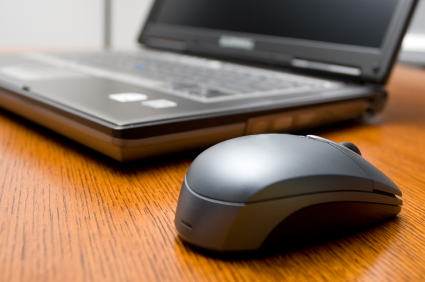 Laptop with mouse